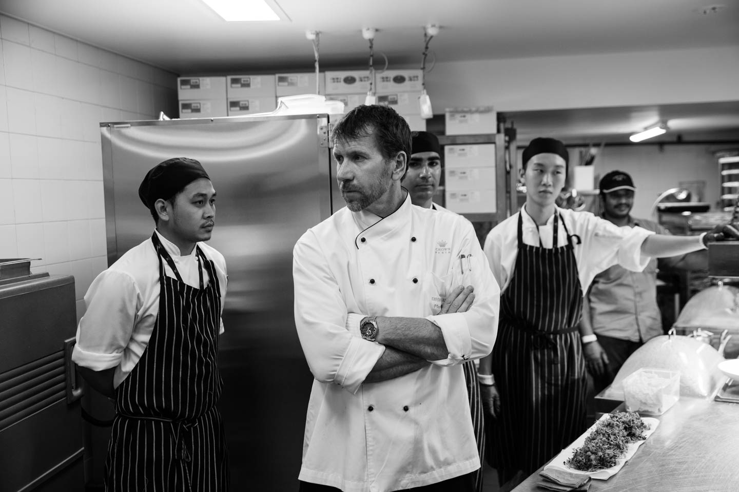 The team lead by executive sous-chef Matt Horne