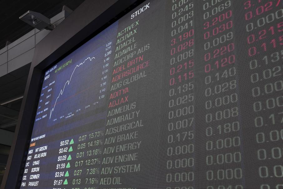 Shares end stronger after choppy session
